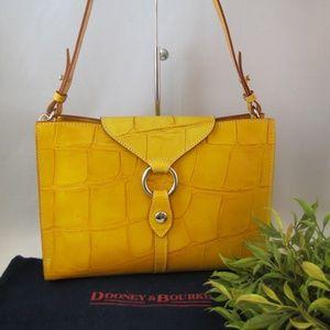 Dooney & Bourke Croc Embossed Italy Shoulder Bag